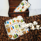 FOREST ANIMALS CLOTH WIPES - (QUANTITY 10)