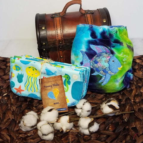SEA LIFE CLOTH WIPES - (QUANTITY 10)