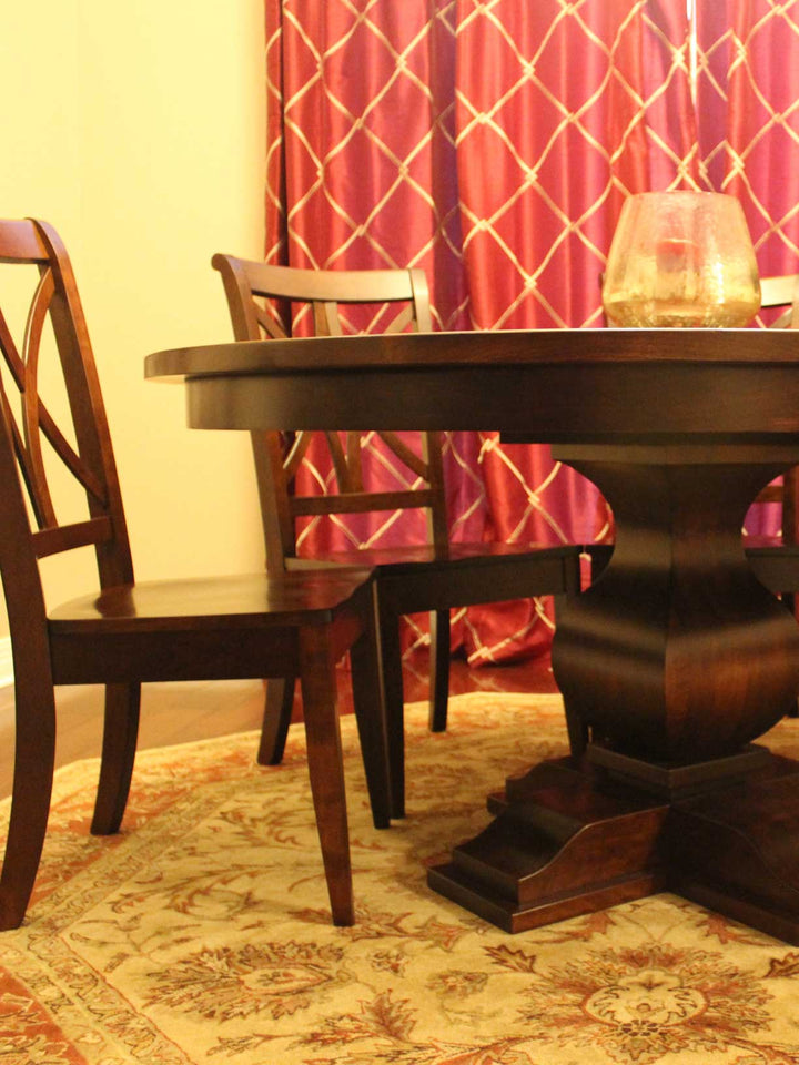 They could not be more beautiful - Barrington Single Pedestal with the Callahan Dining Chair