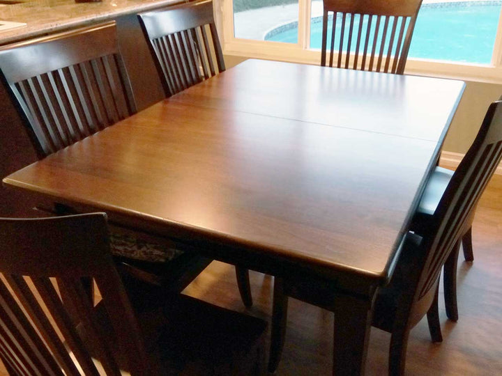 All Wood Dining Room Table Ethan Leg Table and Carlisle Dining Chair