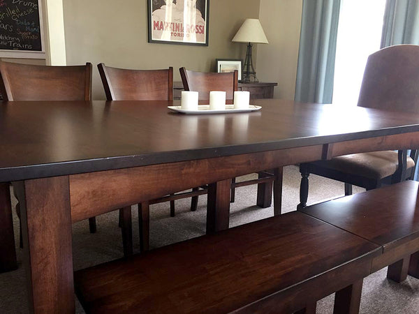 Customer Picture of the Heidi Leg Table and Heidi Expandable Bench