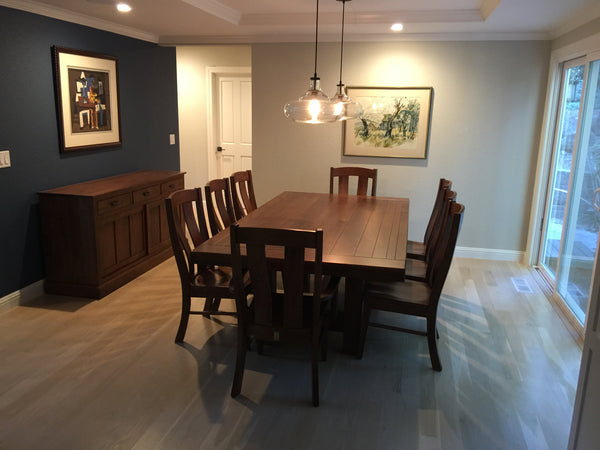 Customer Picture of the Wellington Dining Table with the Laurie Chair and Sherwood Buffet
