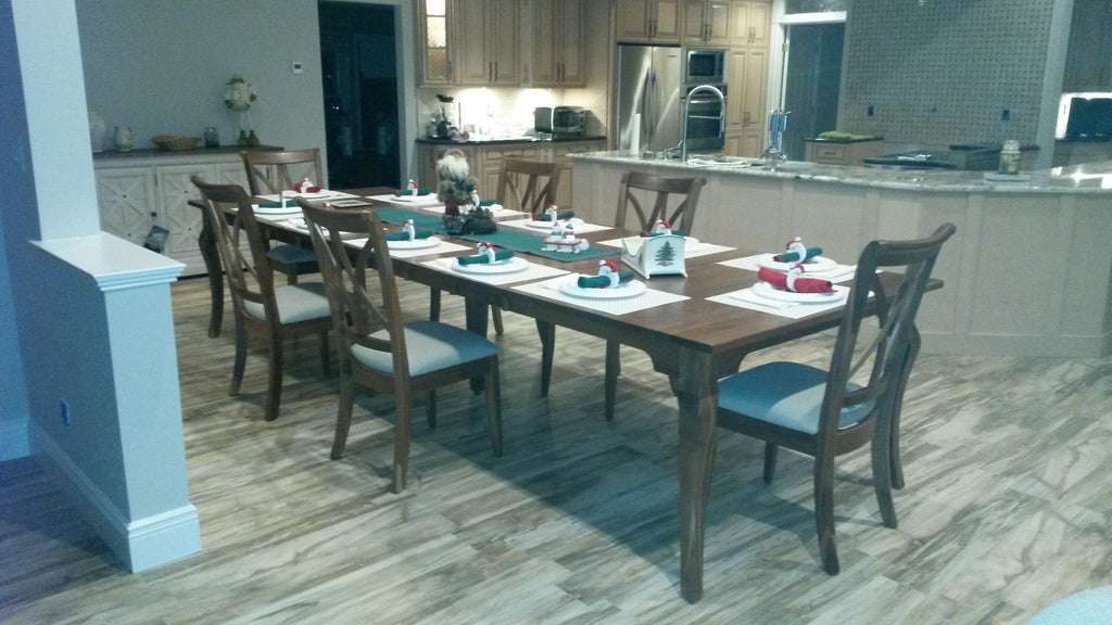 Customer Picture of the Granby Leg Table and Callahan Dining Chairs in Walnut
