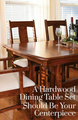 A Hardwood Dining Table Set Should Be Your Centerpiece | Home and Timber