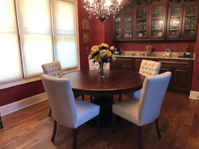 Alana Tufted Dining Chair in Cherry with a Michael's cherry stain