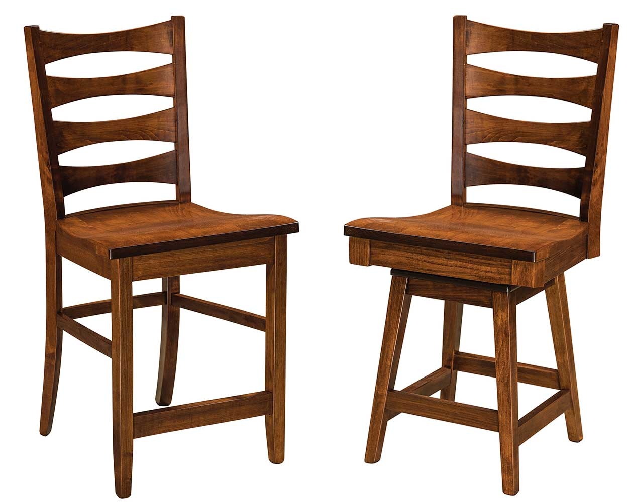 Armanda Solid Wood Bar Chair Double | Home and Timber