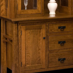 Artesa Hutch Cherry Wood Detail by Home and Timber