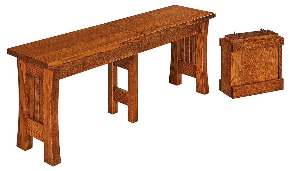 Arts and Crafts Expandable Dining Bench | Home and Timber