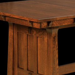 Beaumont Trestle Table In Quarter Sawn White Oak Detail By Home And Timber  ...