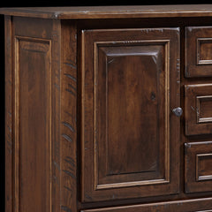 Belwright Chest - Rustic Cherry Detail by Home and Timber