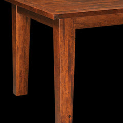 Benson Plank Top Leg Table - Rustic Cherry Detail by Home and Timber
