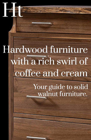 Solid Walnut Furniture Guide by Home and Timber | Pinterest Banner