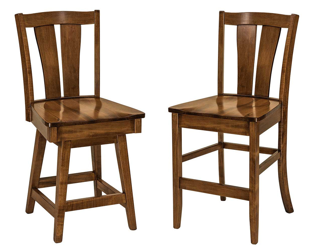 Brawley Solid Wood Bar Chair Double | Home and Timber