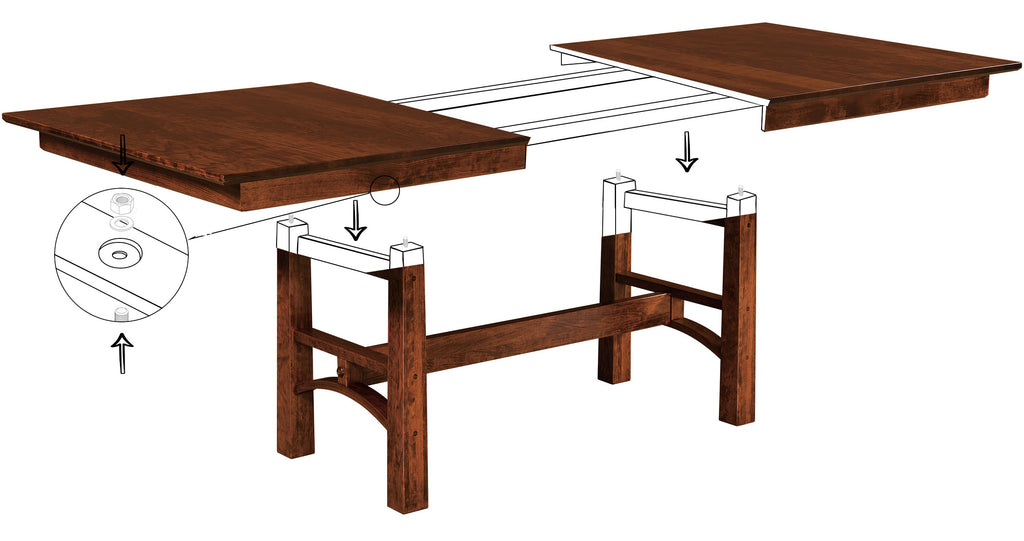 Bridgeport Trestle Table Assembly Instructions - Open Top