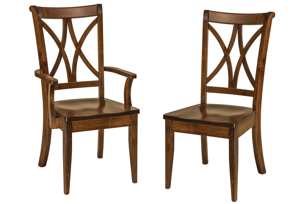 Callahan Hardwood Dining Chair Double | Home and Timber