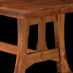 Cambridge Trestle Table  - Rustic Cherry Detail by Home and Timber