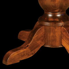Carson Round Single Pedestal Table - Rustic Cherry Detail by Home and Timber