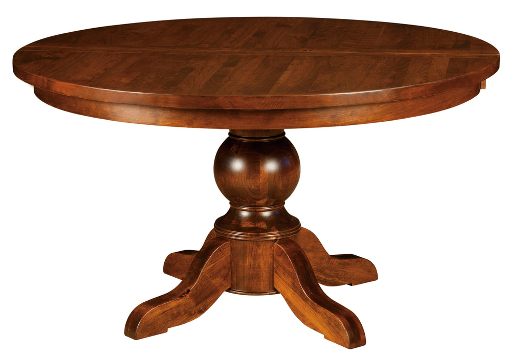 Carson Plank Top Single Pedestal Table | Home and Timber