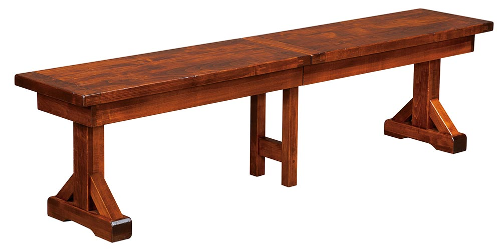 Chesapeake Expandable Plank Top Dining Bench | Home And Timber