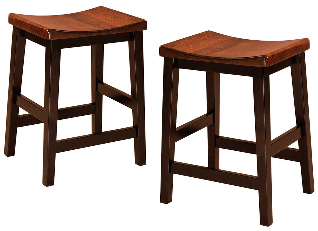 Coby Solid Wood Bar Stools Double | Home and Timber