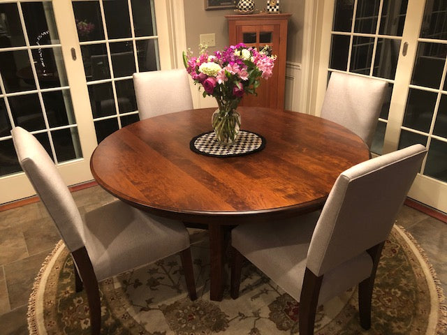 Arts and Crafts Single Pedestal Table in Cherry - Customer Photo - Home and Timber