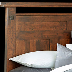 Encada Bed - Rustic Cherry Detail by Home and Timber