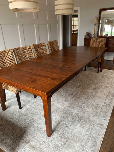 Ethan Leg Table with Michaels Cherry Stain - Customer Photo