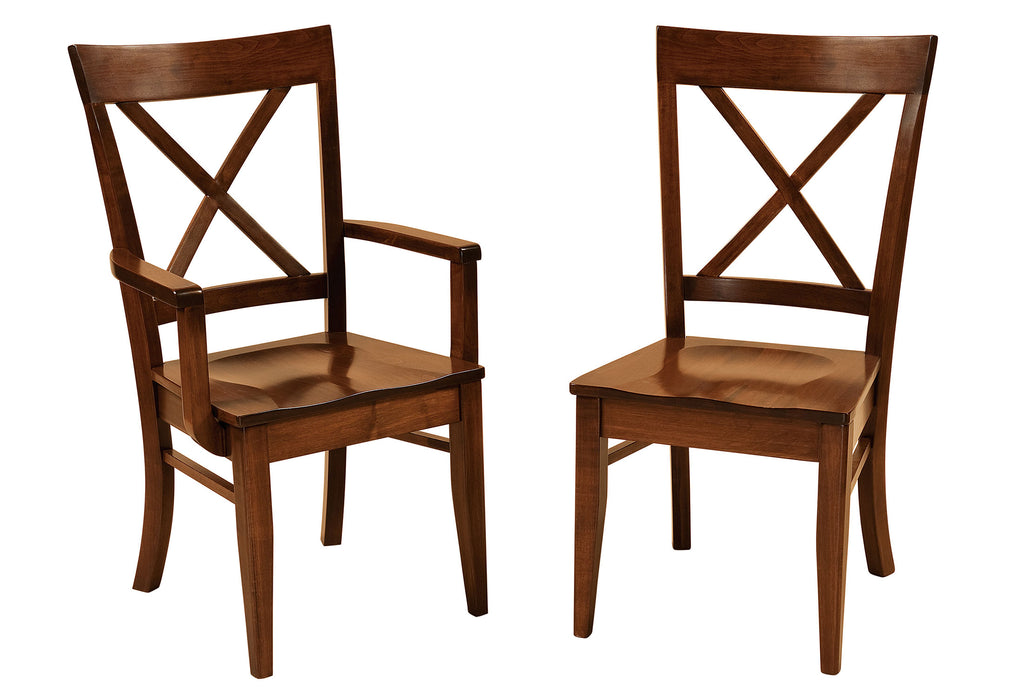 Frontier Hardwood Dining Chair Double | Home and Timber