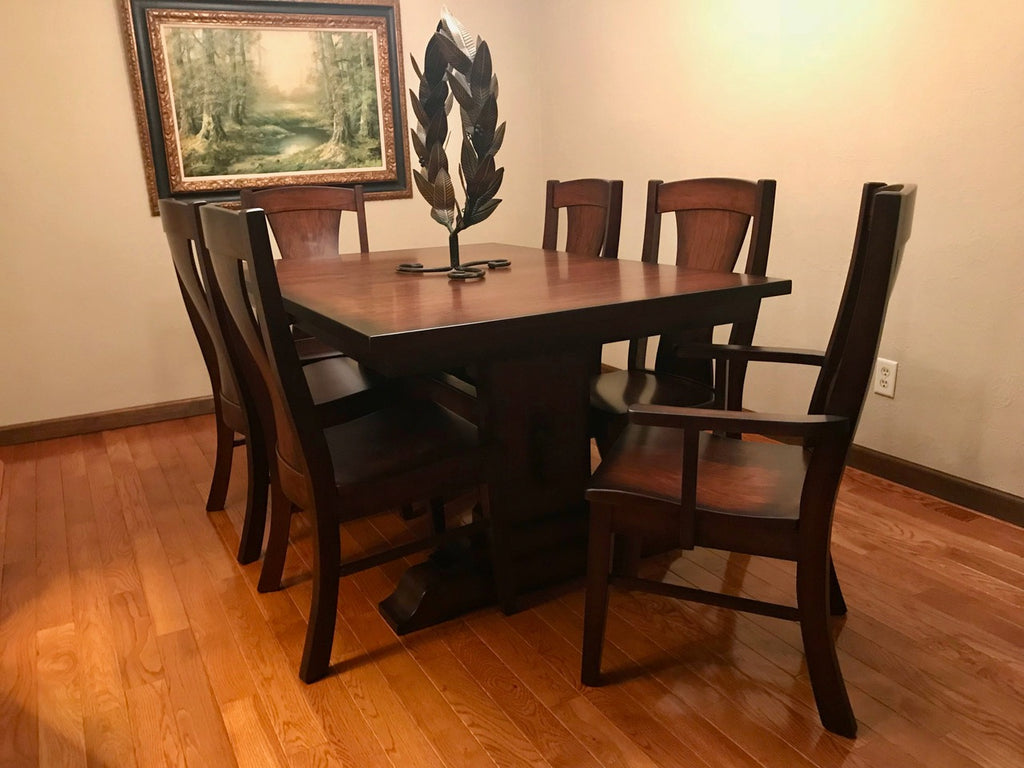 Manchester trestle table with the Westin dining chair