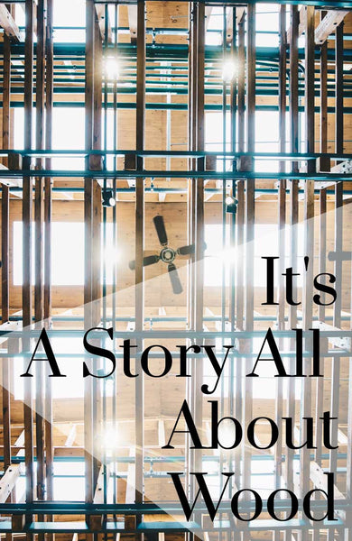 It's A Story All About Wood Pinterest Banner