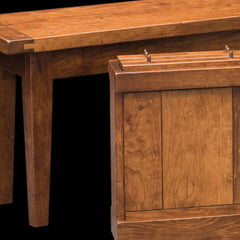 Jacoby Dining Bench Cherry Wood Detail by Home and Timber
