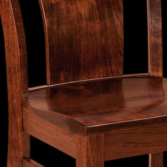 LaCombe Dining Chair Cherry Wood Detail by Home and Timber