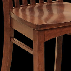 Malibu Dining Chair Cherry Wood Detail by Home and Timber