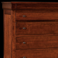 Marshfield Chest Cherry Wood Detail by Home and Timber