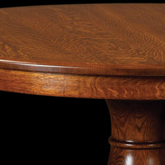 ... Mason Single Pedestal In Quarter Sawn White Oak Detail By Home And  Timber