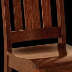 OuRay Dining Chair - Rustic Cherry Detail by Home and Timber