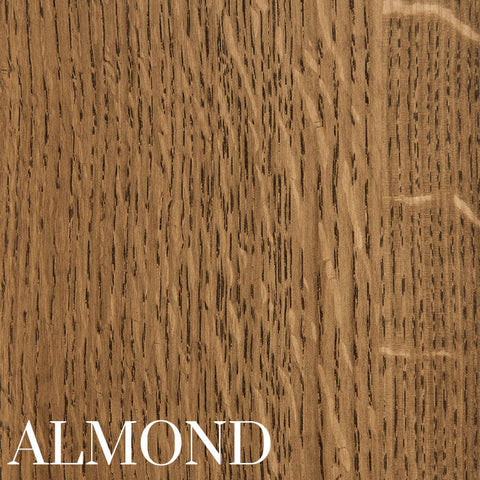 Almond on Quarter Sawn White Oak by Home and Timber