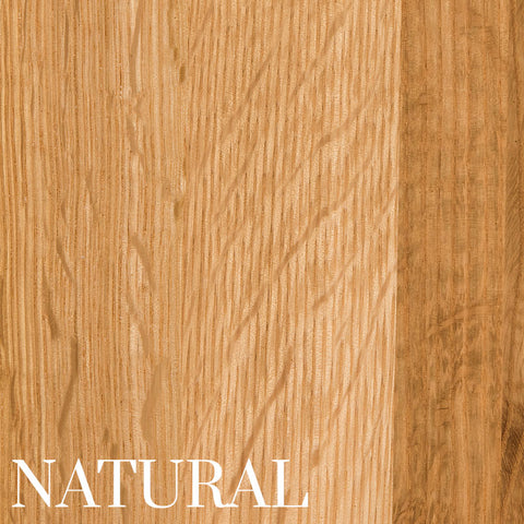 Natural Finish on Quarter Sawn White Oak by Home & Timber