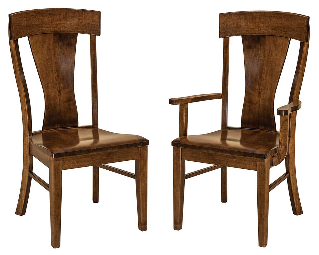 Ramsey Solid Wood Dining Chair Double | Home and Timber