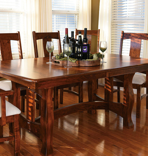 Shop Dining Room Seating · Home And Timber | Reno Trestle Table In Cherry