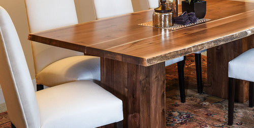 Saratoga Trestle Table And Brookfield Dining Chair Home And Timber | Rio  Vista Live Edge Trestle Table
