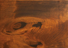 Rustic Cherry Filled Knot Detail by Home and Timber