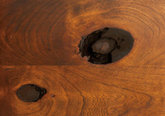 Rustic Cherry Open Heart Detail by Home and Timber