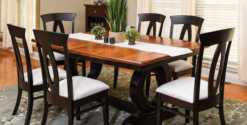 Saratoga Trestle Table and Brookfield Dining Chair