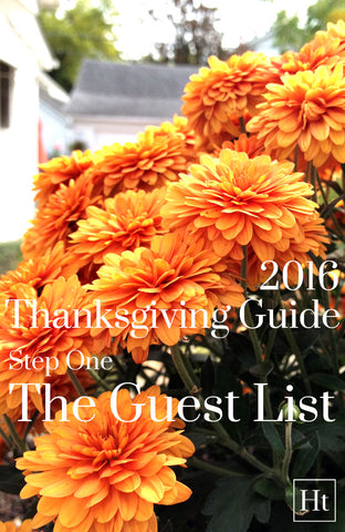 Thanksgiving Guide - Step One | Pinterest Banner | Home and Timber