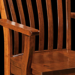 Theodore Dining Chair - Rustic Cherry Detail by Home and Timber