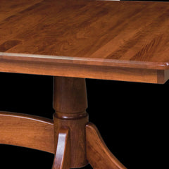 Baytown Double Pedestal Table Cherry Wood Detail by Home and Timber