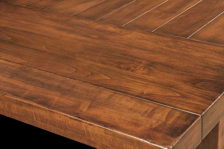 Wellington Trestle Table Plank Top Detail