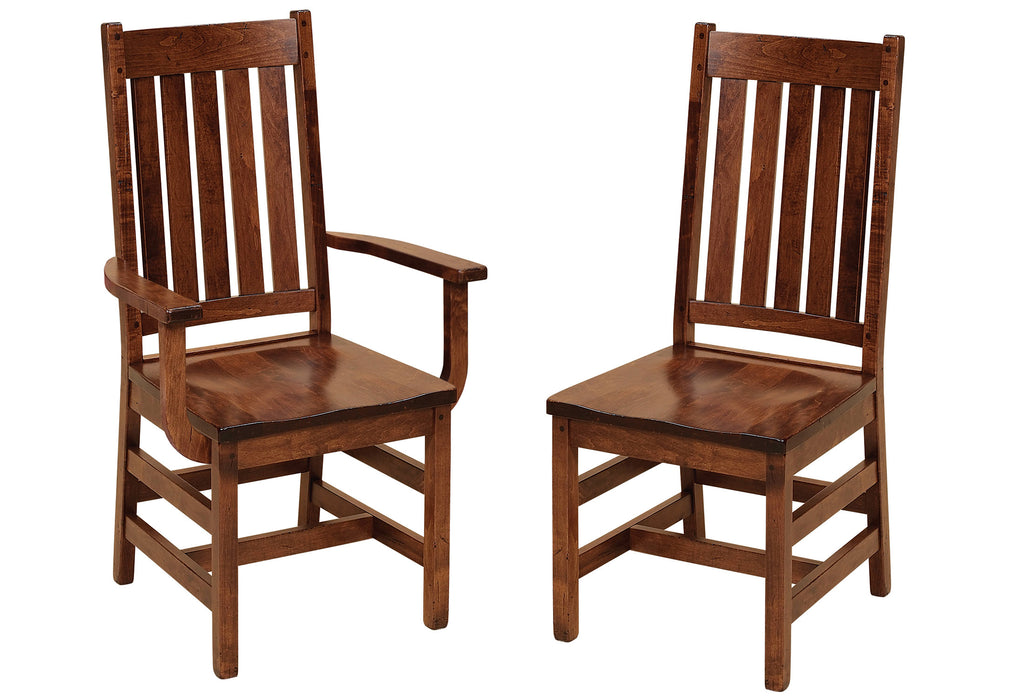 Williamsburg Hardwood Dining Chair Double | Home and Timber