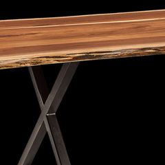 Xavier Live Edge Trestle in Walnut by Home and Timber